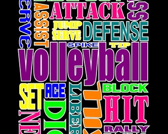 VOLLEYBALL words ~ Volleyball shirt