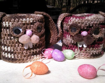 toilet paper cover,rabbits,crochet