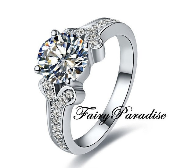 vintage style engagement ring promise ring 1 ct cut