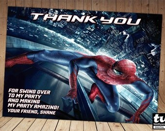 The Amazing Spiderman Thank you card