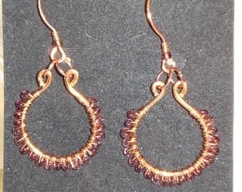 Purple Haze Hoop Earrings
