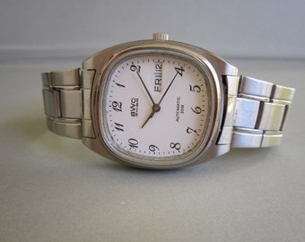 ETA 2836 BWC automatic mens with 25 jewel day + date