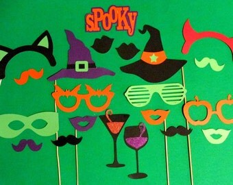 Halloween Photo Booth Props 21pc Halloween Photobooth Prop Halloween Party Decorations Witch Hat Drink Props Halloween Decorations