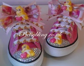 Sleeping Beauty Converse Sleeping Beauty Inspired crystal converse Free UK Delivery