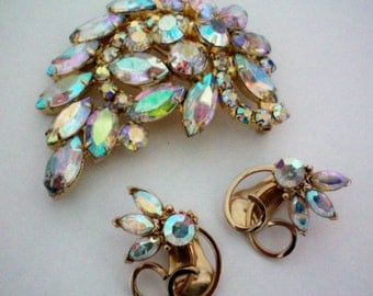Kramer Earrings with Matching Brooch - 2362