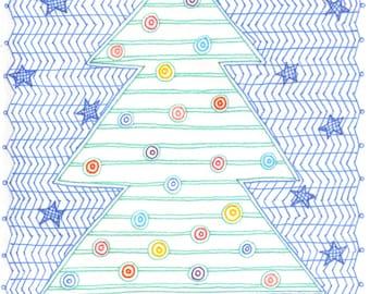 Christmas Tree - Single Notecard