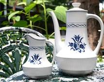 Vintage AMCREST Tradition IRONSTONE Japan Tea Pot Set