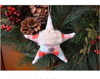 Santa Star ornament pattern