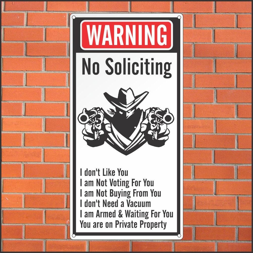 Selective image regarding funny no soliciting sign printable