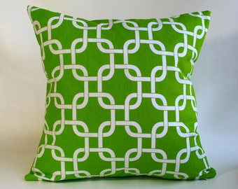 ZIPPER PILLOW COVER Green pillow, green geometric pillow, chartreuse pillow, sofa pillow, green chevron, green euro sham