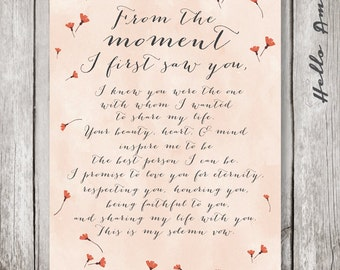 Popular items for wedding vows framed on Etsy