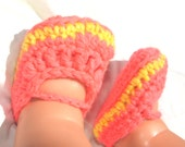 Mary Janes, crochet girl shoes, pink baby girl shoes, newborn shoes, baby girl sandals, baby girl shoes, baby accessory