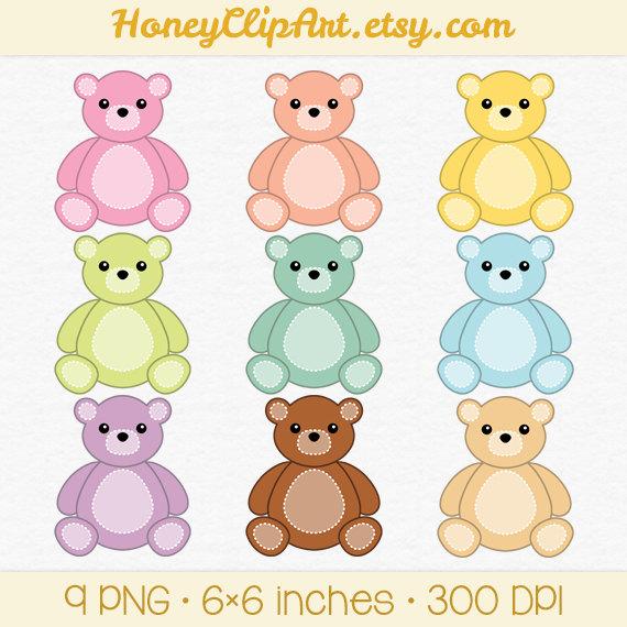 Digital Teddy Bear Clip Art Pink Teddy Bear Clipart Baby