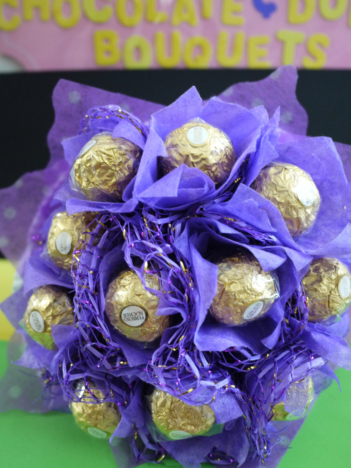 Ferrero rocher chocolate flower bouquet birthday