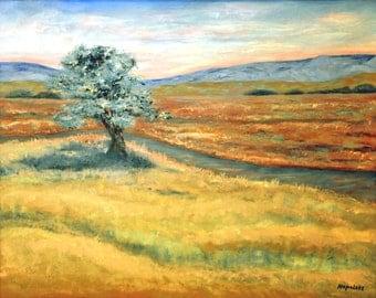 """Algadonez, NM Original Oil Landscape Painting 16"""" x 20"""" on stretched  canvas by Napolske Fine Art"""