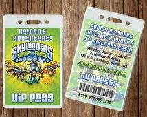 Skylanders Vip Pass Invitation - Digital File