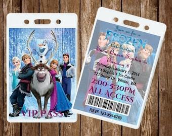Frozen VIP Pass Invitation - Digital File
