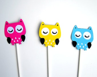 Owl Cupcake Toppers - Owl Gender Reveal