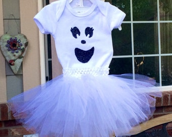 Baby Ghost Costume, Toddler Ghost Costume, Ghost Tutu, Halloween Costume, Tutu Costume, Halloween Outfit, Baby Halloween Costume