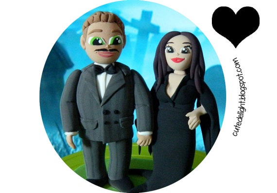 addams family wedding cake topper items similar to family cake topper wedding cake 10540