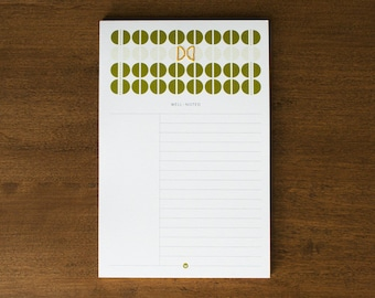 Well-Noted Notepad : Olive Circles