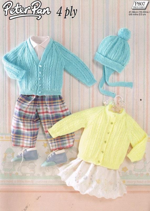 baby cardigan vintage knitting pattern PDF