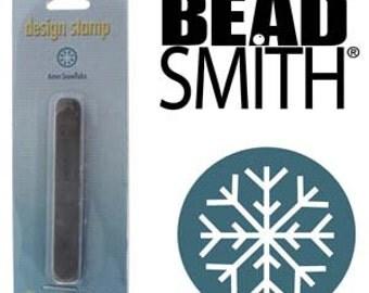 Snowflake Metal Stamp 6 mm Beadsmith Hand Stamping Tool Holiday Stamp Snow Flake, Steel Stamp