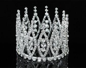 Exquisite Rhinestones Crystal Photo Prop Newborn Baby Tiara Crown (459)