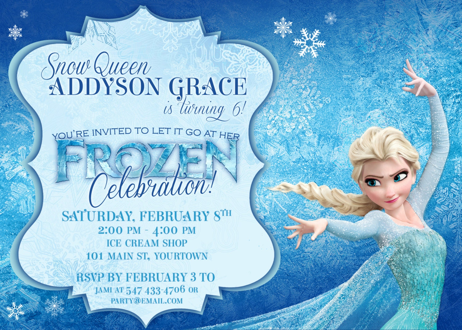 frozen themed party invitations printable pdfs elsa and anna, invitation samples