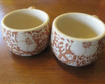 Antique Wallace China Festival Design Coffee Mugs