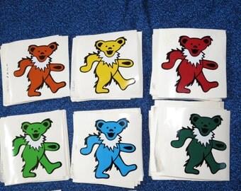 Dancing Bears ~  Heavy Outdoor Vinyl Bumper Stickers