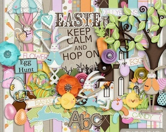 Hop On Easter Digital Scrapbook Kit