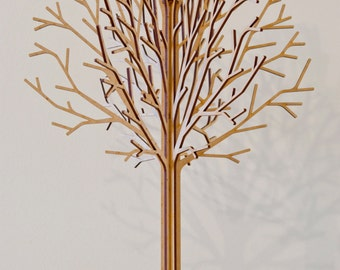 Lasercut Wooden Tabletop Tree #2