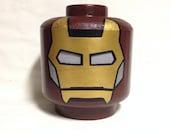 Custom made to order LEGO inspired Iron Man Costume Head