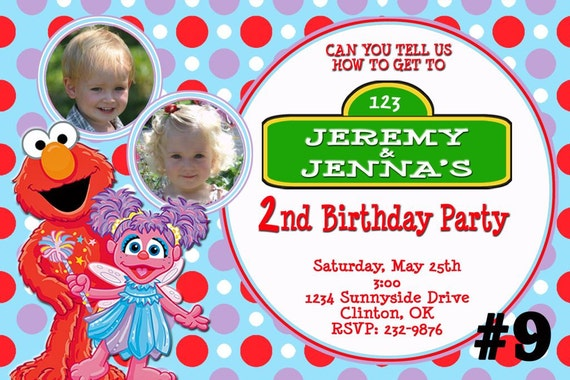 Elmo Birthday Invitations For Twins And Elmo Invitations Twins