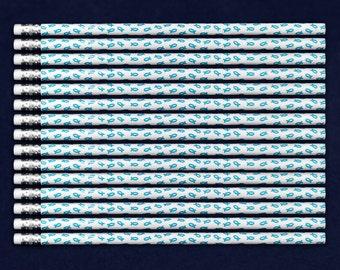 Teal Ribbon Pencils (50 Pencils) (PENC-3)