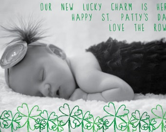 Our Lucky Charm St. Patrick's Day Photo Card