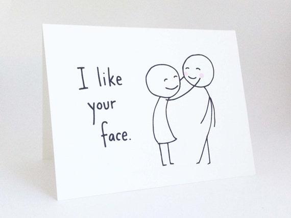 Cute Love Card for Boyfriend // Anniversary Card for Husband
