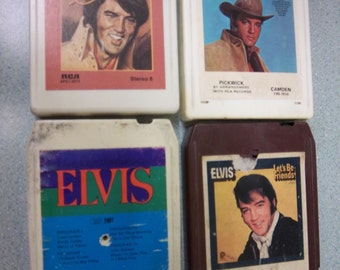 FREE Shipping ELVIS Presley 8 track stereo Lot of 4 tapes vintage music