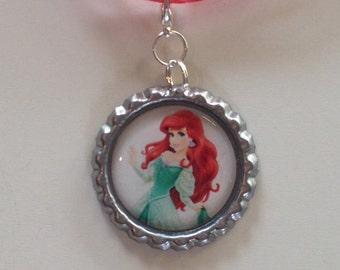 Ariel Boutique Bottlecap Pendant Necklace