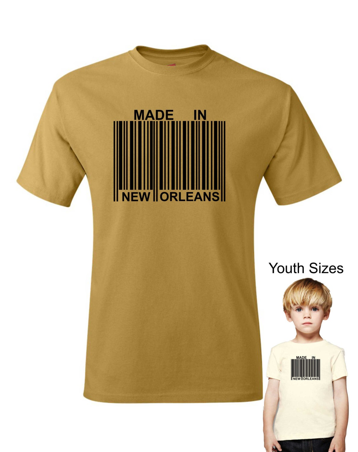 Made In New Orleans Barcode T Shirt Or Customize To Your