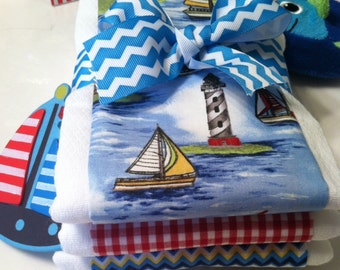Cape Cod Sailing Baby Burp Cloths - Baby Shower Gift