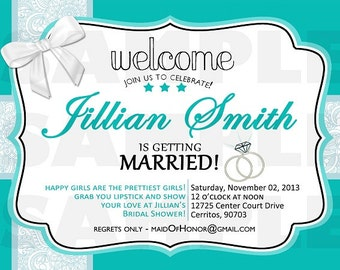 Tiffany's Bridal Shower Invitation