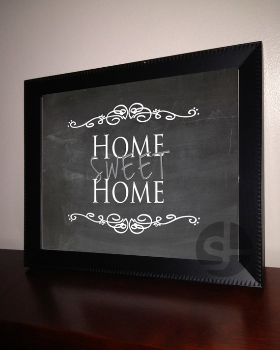Printable wall art decor home sweet home by lobackdesign Home sweet home wall decor