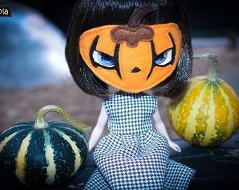 "Mask ""Pumpkin"" - Pumpkin Mask for Blythe Doll"