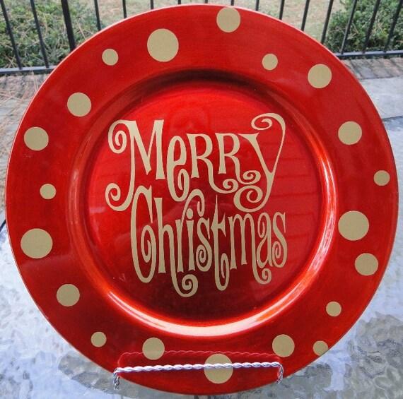 christmas charger plates madinbelgrade