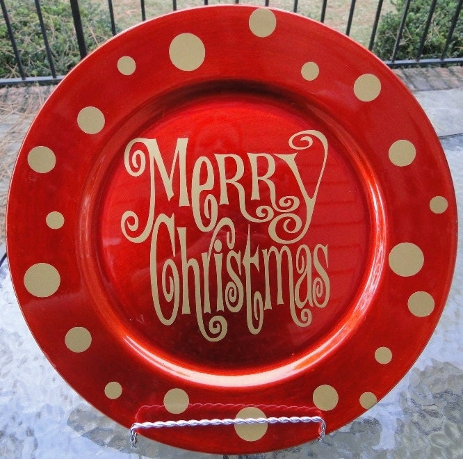 decorative christmas charger plate - Decorative Christmas Plates