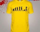 Zombie Tshirt Evolution Tshirt Undead Attack Top Blood Walking Mens Tee Walkers White Halloween Horror Costume SXXL Shirt