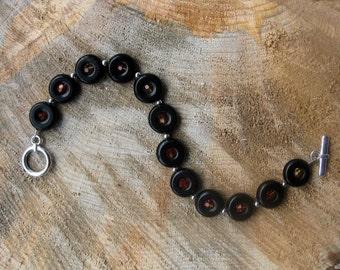 Blackstone and Swarovski Crystal Bracelet
