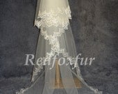 Lace Cathedral Veil, Drop Veil, Cathedral Veil, Alencon Lace Veil, Wedding Veil, Bridal Veil, Mantilla Veil,  Lace Veil